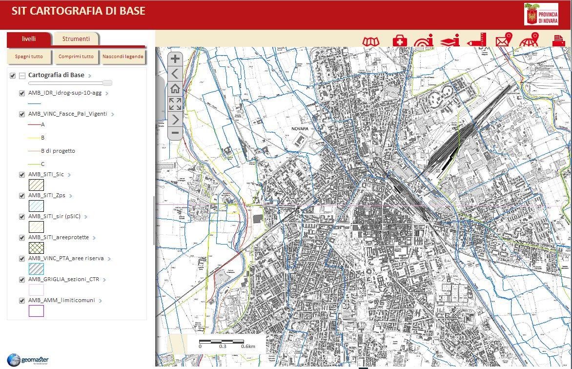 Il nuovo visualizzatore Geomaster abilitato nella sezione Servizi di Mappa.