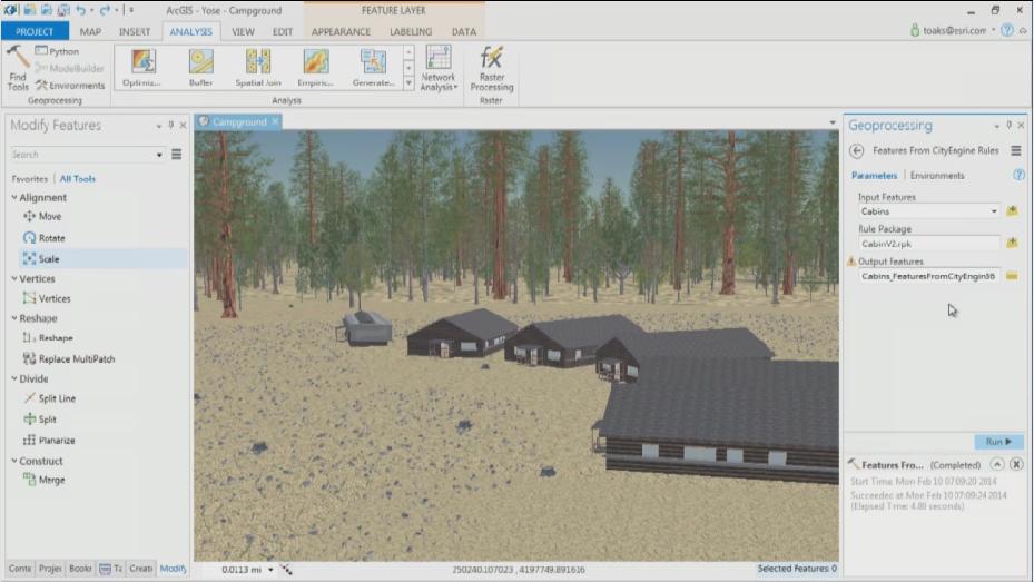 Integrazione con le regole di vestizione degli oggetti 3D di ArcGIS City Engine