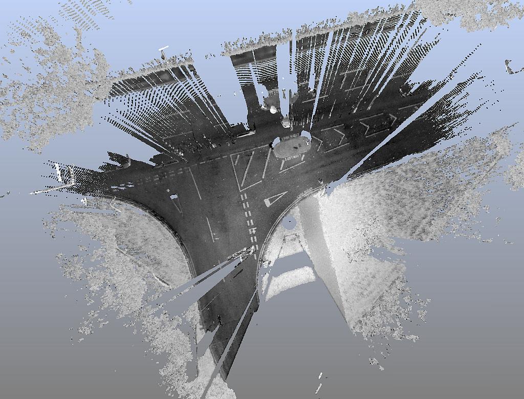 Immagine dataset LAS con simbologia per valori RGB