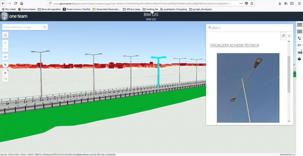 Il modello BIM visualizzato in Geomaster