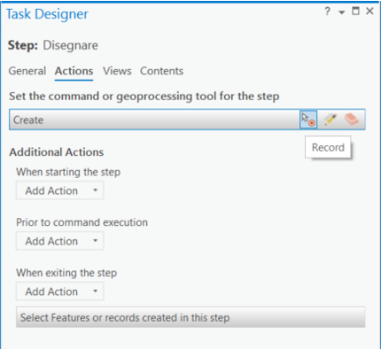 ArcGIS Task - Actions