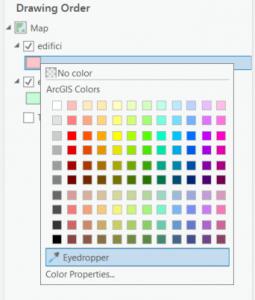 ArcGIS Pro 2.7 - Eyedropper